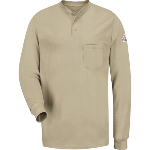 Men's Long Sleeve Tagless Henley Shirt - Excel FR®