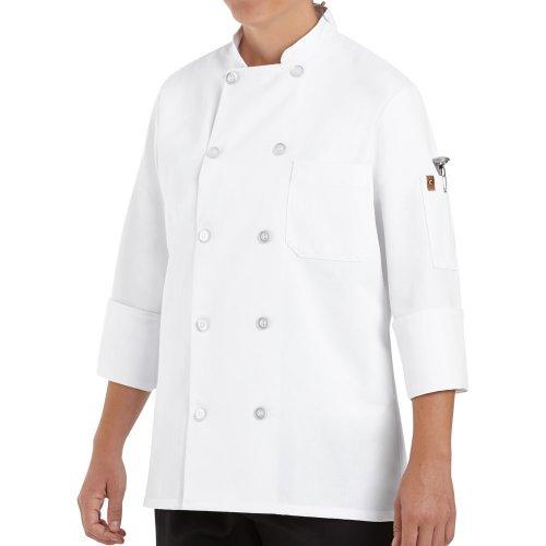 Chef Designs Women's Ten Pearl Button Chef Coat