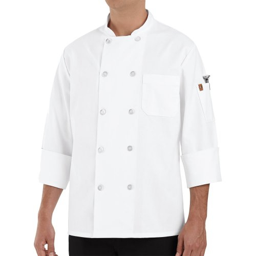 Chef Designs Men's Ten Pearl Button Chef Coat