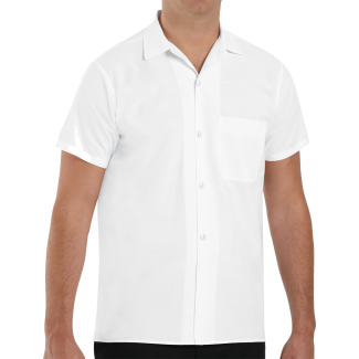 Chef Designs White Button Front Cook Shirt