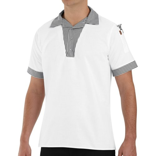 Chef Designs Snappy V-Neck Chef Shirt