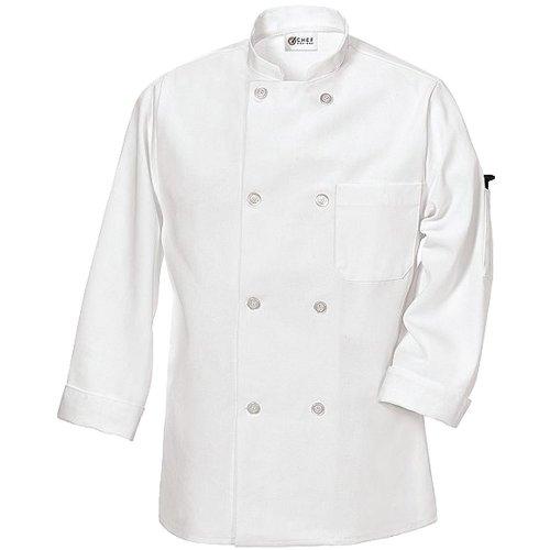 Chef Designs Men's Ten Pearl Button Chef Coat