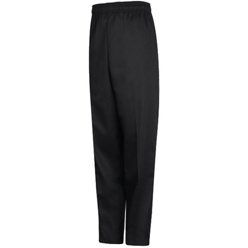 Chef Designs Spun Poly Black Baggy Chef Pants