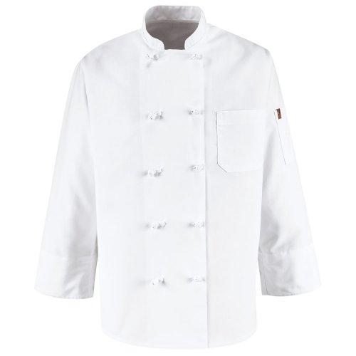 Chef Designs Ten Knot Button Chef Coat