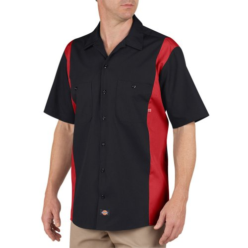 Industrial Color Block Short Sleeve Shirt
