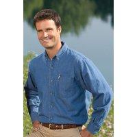 Men's Midweight Denim Long-Sleeve Shirt
