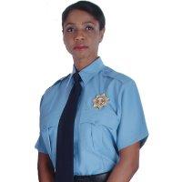 Unisex Polyester Security Short-Sleeve Shirt