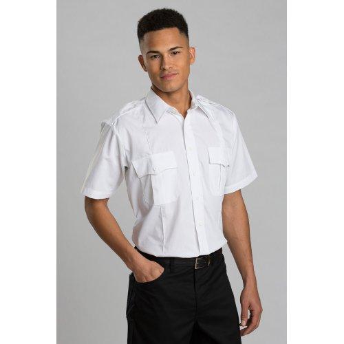 Unisex Cotton Blend Security Short-Sleeve Shirt
