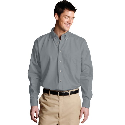 Men's Easy Care Poplin Long-Sleeve Shirt