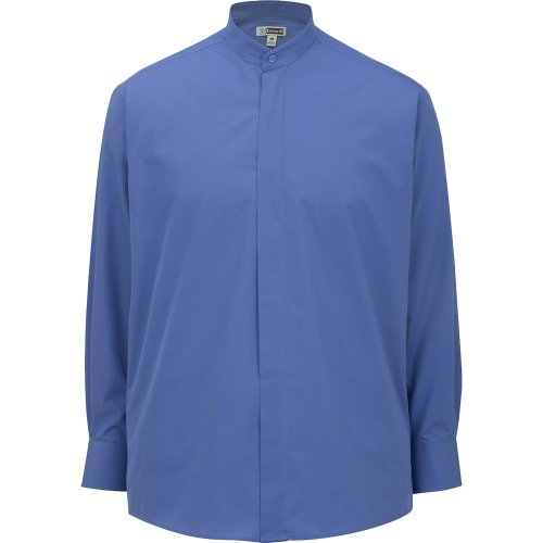 Men's Banded Collar Long-Sleeve Shirt