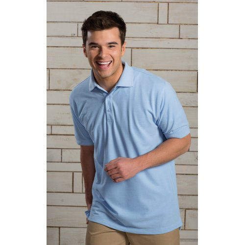 Men's Blended Pique Short Sleeve Polo