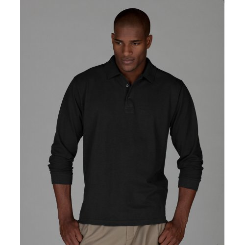 Blended Pique Long Sleeve Polo