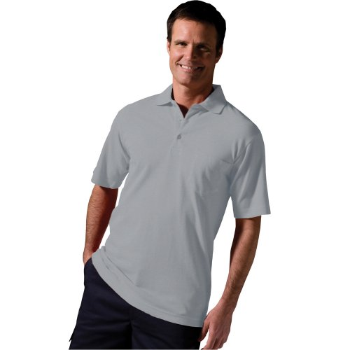 Cotton Pique Short Sleeve Polo With Pocket