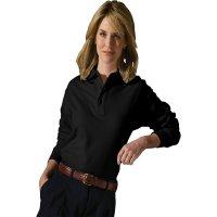Cotton Pique Long Sleeve Polo
