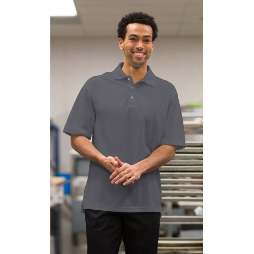 Men's Snap Front Hi-Performance Short Sleeve Polo