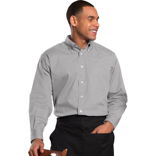 Men's Pinpoint Oxford Long-Sleeve Shirt with Button-Down Collar
