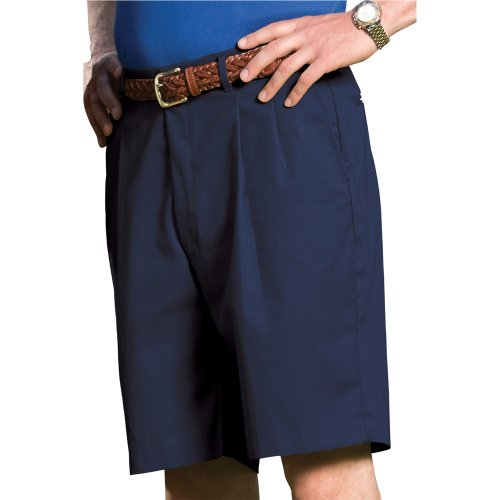 Men's Business Casual Pleated Chino Shorts