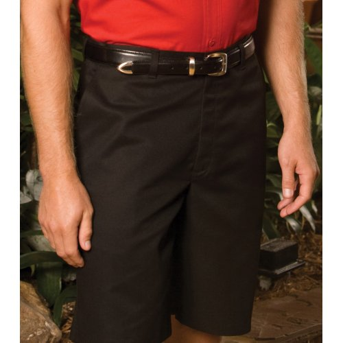 """Men's Blended Flat-Front Chino Shorts–11"""" Inseam"""