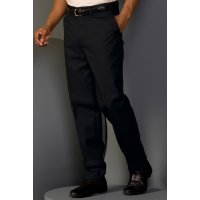 Men's Blended Chino Flat-Front Pants