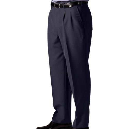 Men's Lightweight Wool Blend Pleated Pants