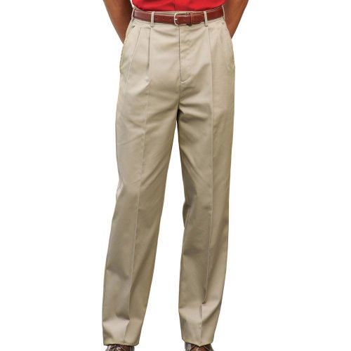 Men's Utility Pleated-Front Chino Pants