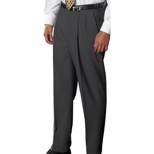 Men's Wool Blend Pleated Dress Pants