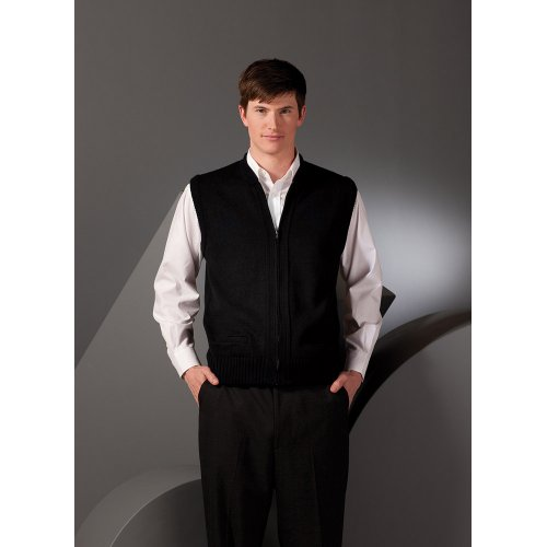 Full-Zip Heavyweight Acrylic Sweater Vest