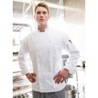 12 Cloth Button Classic Chef Coat