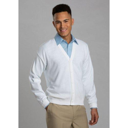 V-Neck Button Acrylic Cardigan Sweater