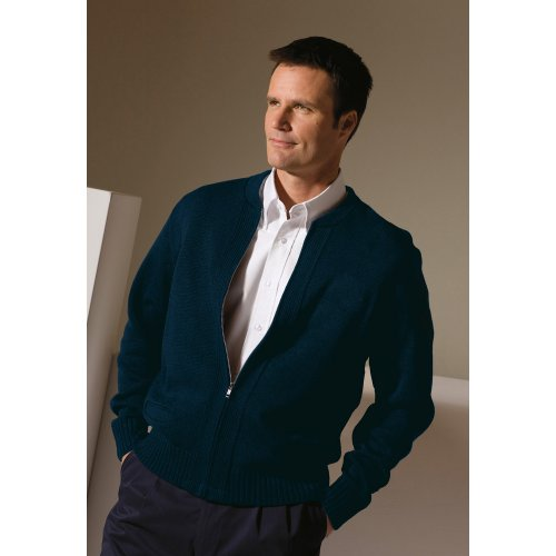 Full-Zip Heavyweight Acrylic Sweater
