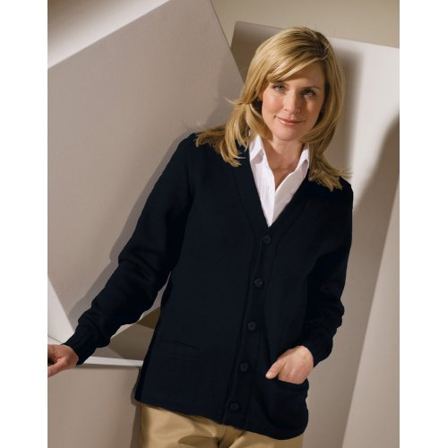 V-Neck Button Heavyweight Acrylic Sweater