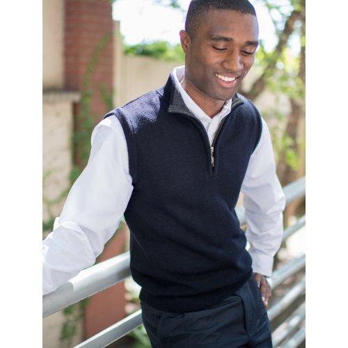 Quarter-Zip Acrylic Sweater Vest