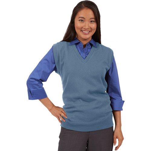 V-Neck Cotton Blend Sweater Vest