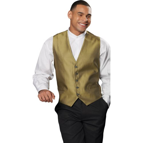 Men's Diamond Brocade Vest