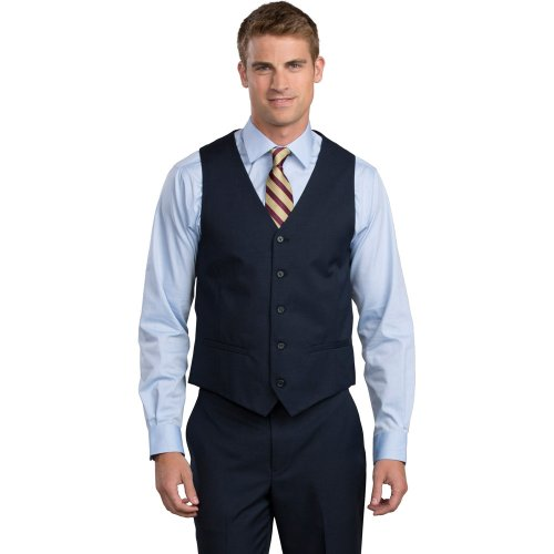Men's Synergy® Washable High-Button Vest