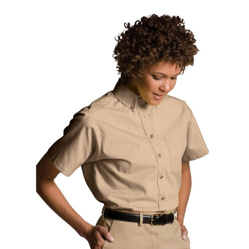 Ladies' Easy Care Poplin Short-Sleeve Shirt