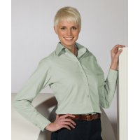 Ladies' Lightweight Open Neck Poplin Blouse
