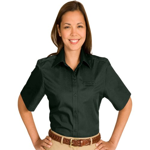 Ladies' CottonPlus Twill Short-Sleeve Shirt