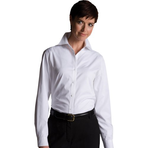 Ladies' CottonPlus Twill Long-Sleeve Shirt