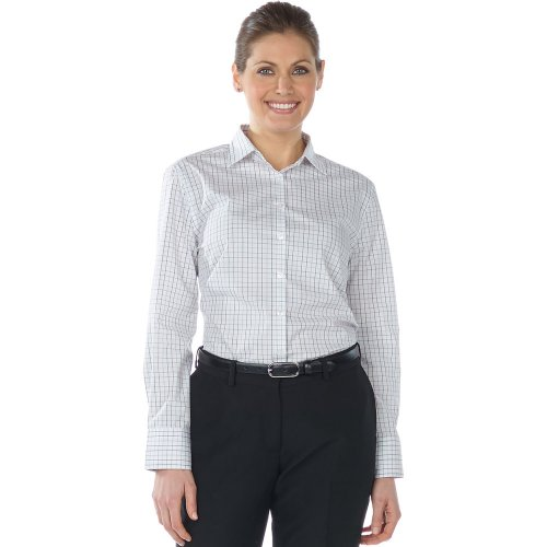 Ladies' Tattersall Poplin Long Sleeve Shirt