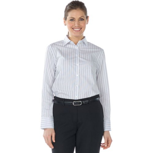 Ladies' Double Stripe Dress Poplin Shirt