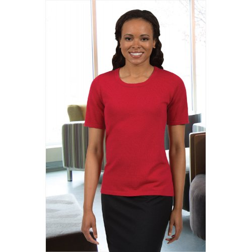 Ladies' Short Sleeve Scoop Neck Sweater
