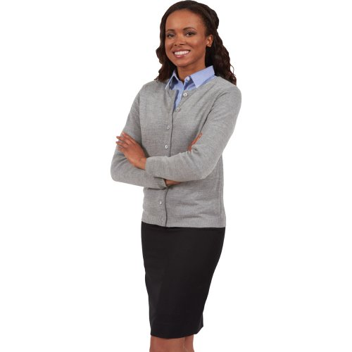Ladies' Drop Neck Cardigan Sweater-Tuff-Pil® Plus