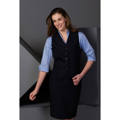 Ladies' High-Button Vest
