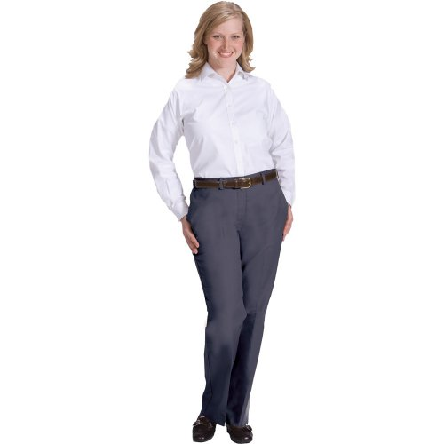 Ladies' Business Casual Flat-Front Chino Pants