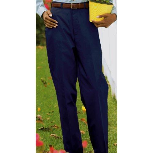 Ladies' Utility Flat-Front Chino Pants