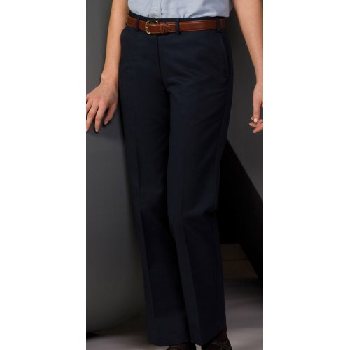 Ladies' Easy Fit Chino Flat-Front Pants