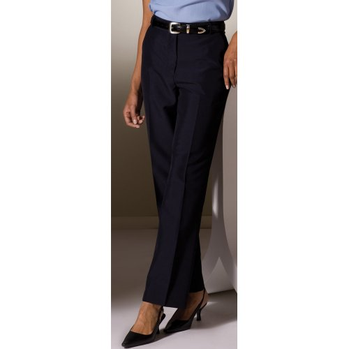 Ladies' Lightweight Wool Blend Flat-Front Pants