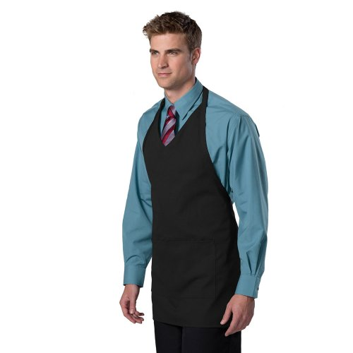 2-Pocket V-Neck Bib Apron