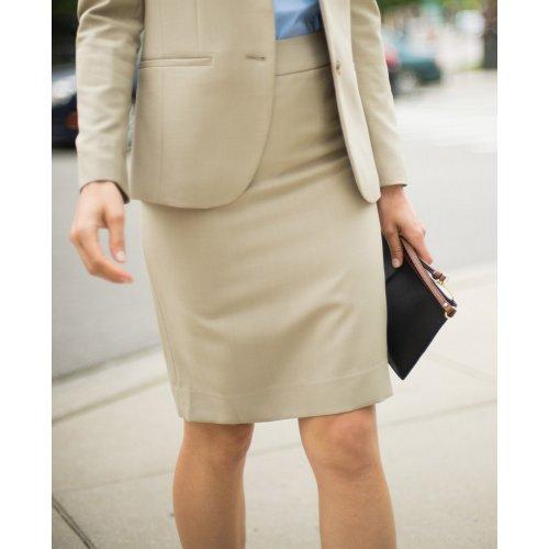 Ladies' Intaglio Microfiber Straight Skirt
